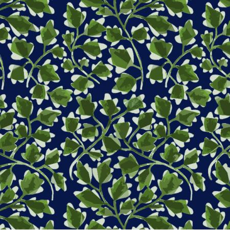 Fabric 8890 | listki zielone