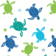 Tkanina 9116 | sea turtles
