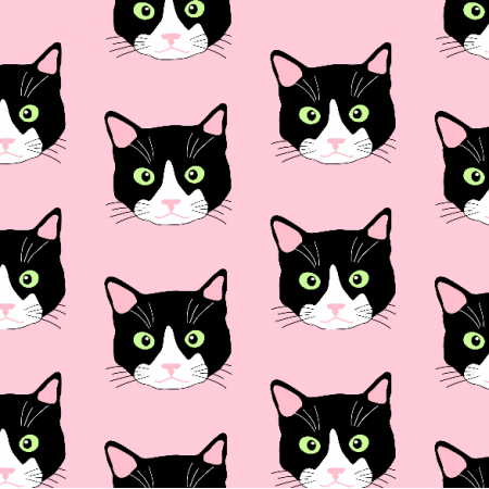 Fabric 9346 | cats on pink