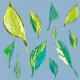 Tkanina 9371 | Spring leaves