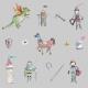 Tkanina 9376 | knights grey set