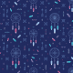 Fabric 9396 | Dream catcher - navy blue