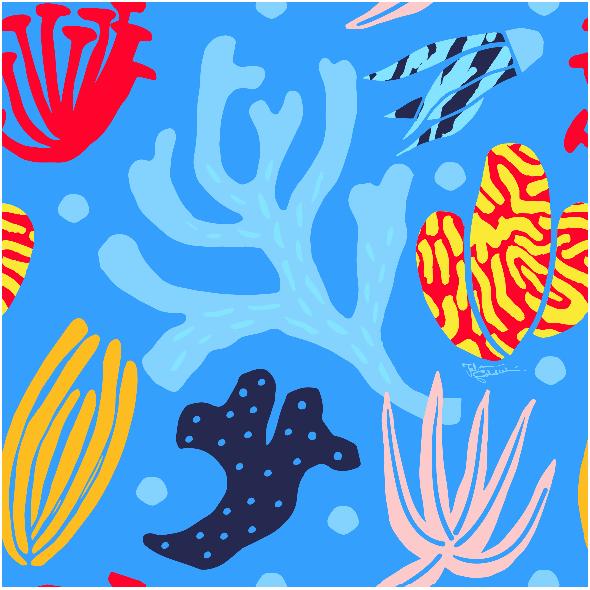 Fabric 9417 | vibrant ocean