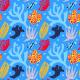 Fabric 9417   vibrant ocean