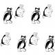 Tkanina 9440 | BLACK AND WHITE BEARS