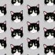 Tkanina 9456 | CATS ON GRAY