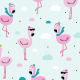 Tkanina 9472 | bingo flamingo
