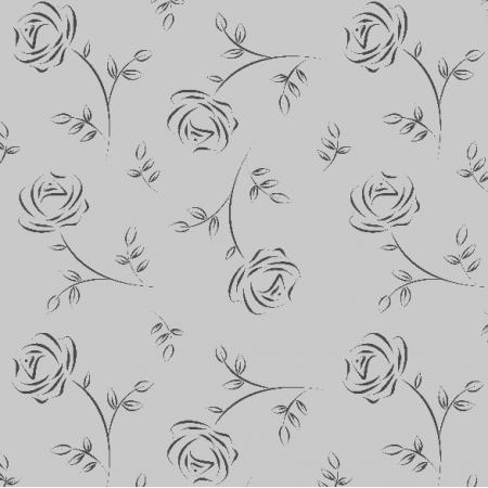 Fabric 9572 | różyczki szare0