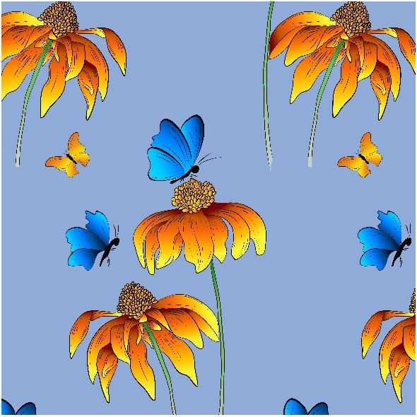 Tkanina OgróD. Niebieski