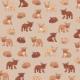 Fabric 9582 | Buldożki brąz