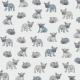 Fabric 9584 | Buldożki Szare I