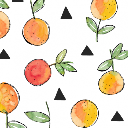 Fabric 9594 | oRANGES AND TRIANGLES