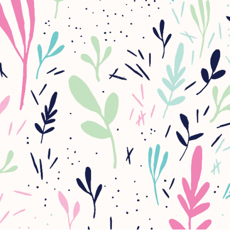 Fabric 9597 | tOSSED LEAVES IN PINK