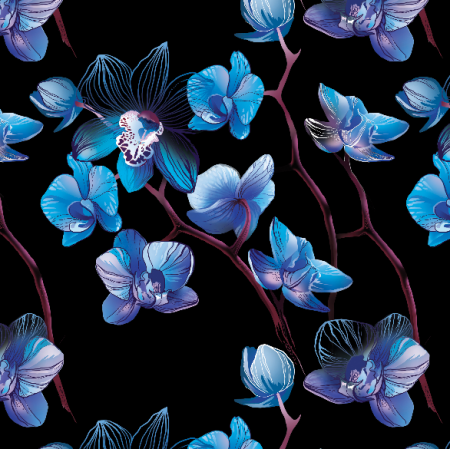 Fabric 9613 | orchid black