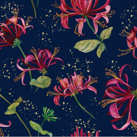 Fabric 9616 | Honeysuckle