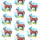 Tkanina 9628 | Horse