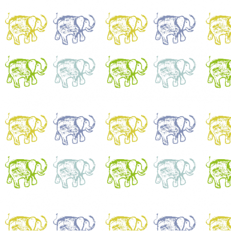 Fabric 9629 | HAPPY ELEPHANTS0