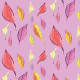 Tkanina 9645 | Pastel Leaves