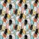 Tkanina 9648 | colored owls