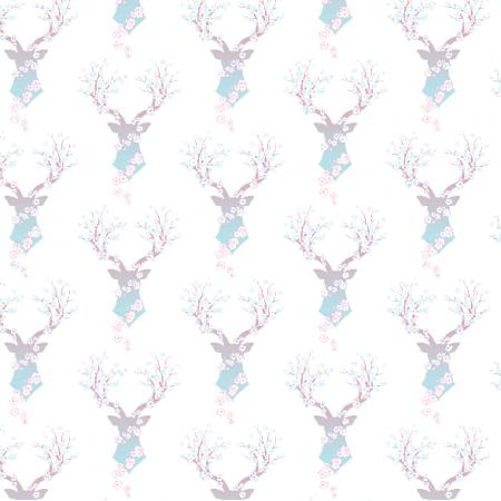 9655   deer with flowers0