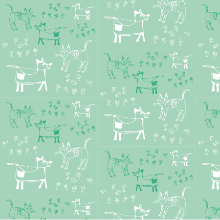 9689 | dog and cat - MINT