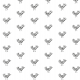 Fabric 9791 | Bird - white and black pattern