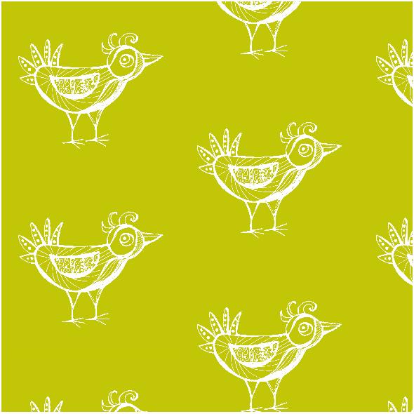 Fabric 9793 | BIRD - green