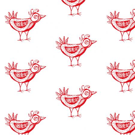 Fabric 9794 | red bird