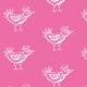 Tkanina 9797 | BIRD- PINK