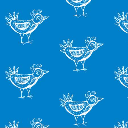 Fabric 9798 | BIRD - blue