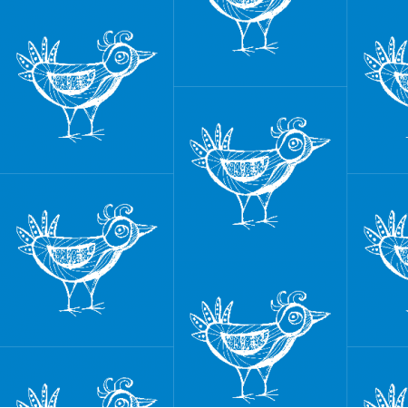 Fabric 9798 | BIRD - blue