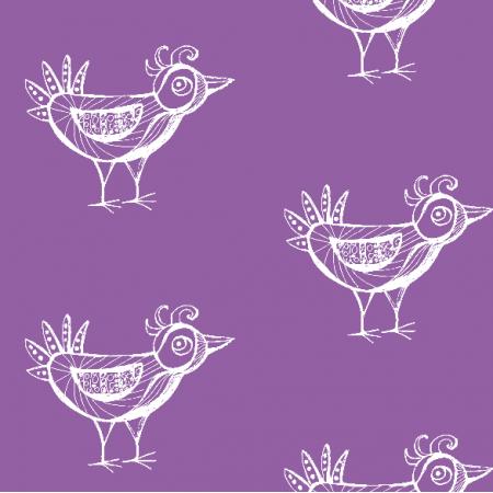 Tkanina 9801 | BIRD - purple