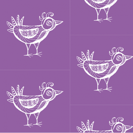 Fabric 9801 | BIRD - purple