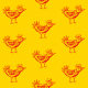 Tkanina 9802 | BIRD- yellow