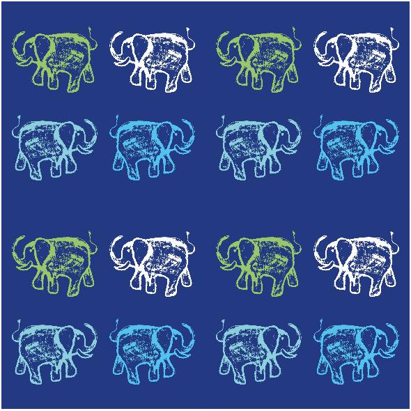 Tkanina 9857 | HAPPY ELEPHANTS - 2