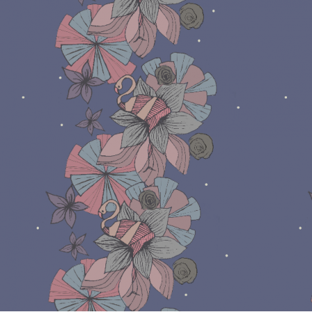 Fabric 9865   flaming w kwiatach