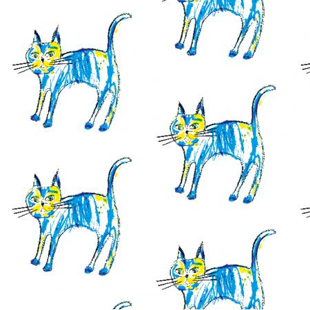 Fabric 9873 | Blue Cat