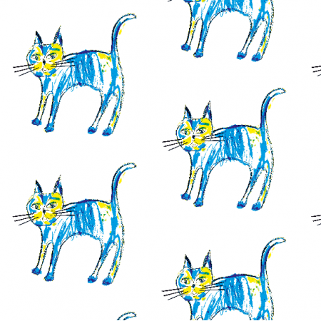 Fabric 9873 | Blue Cat