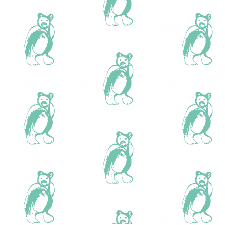 Fabric 9880 | mint BEAR