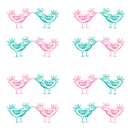 9883 | pink and mint birds