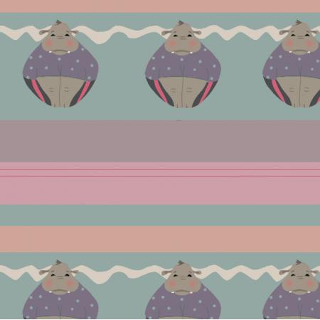 Fabric 9925   hippo muffins