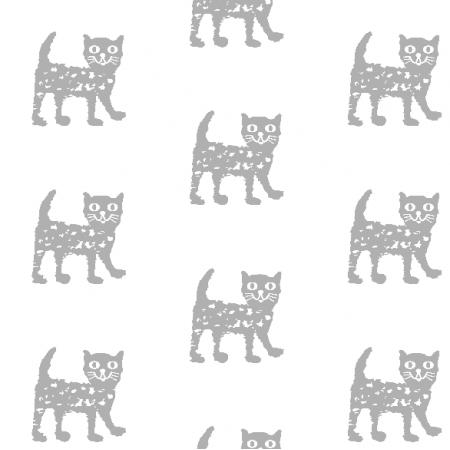 9931 | Happy cat - grey