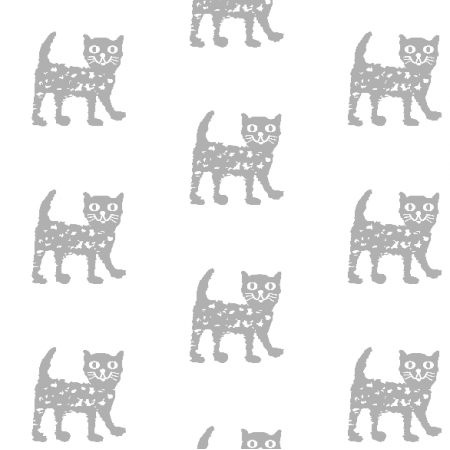 Fabric 9931 | Happy cat - grey