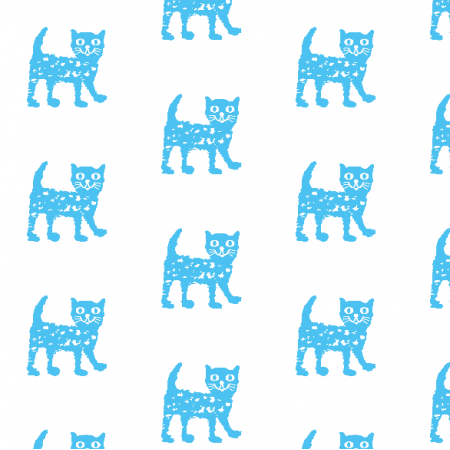 Fabric 9932 | Happy cat - blue