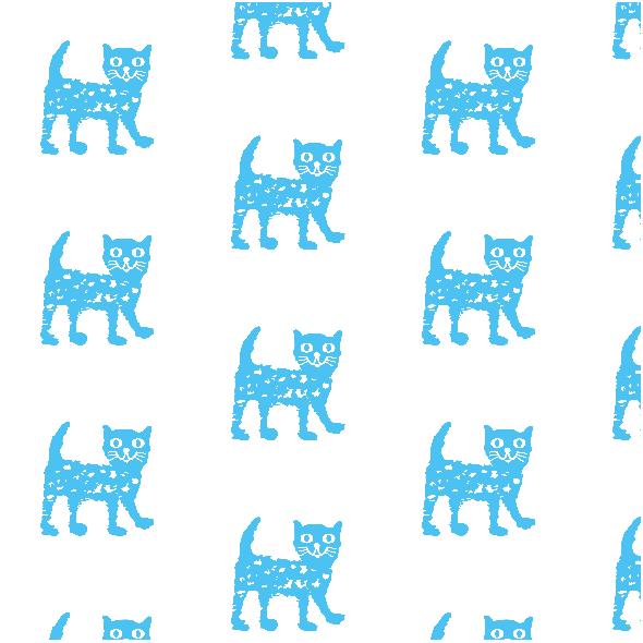 Tkanina 9932   Happy cat - blue