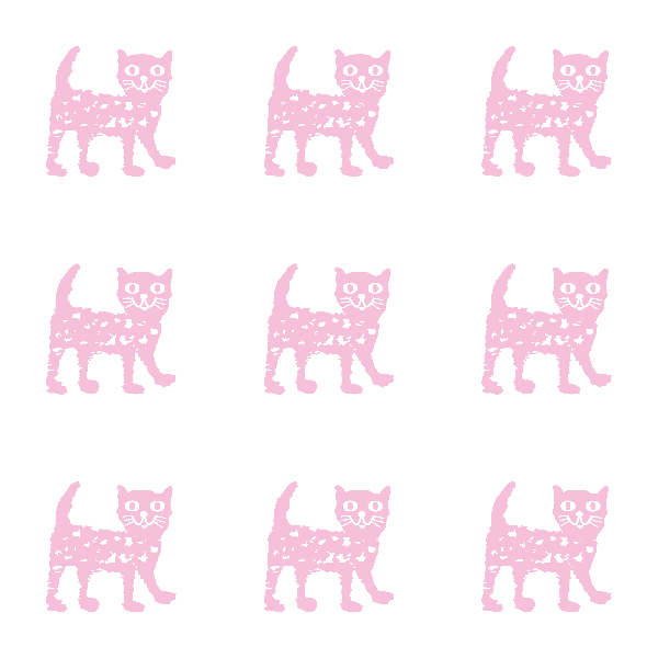 Fabric 9933 | Happy cat - pink