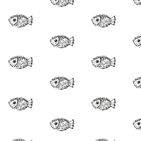 Fabric 9934 | Fish- black and white