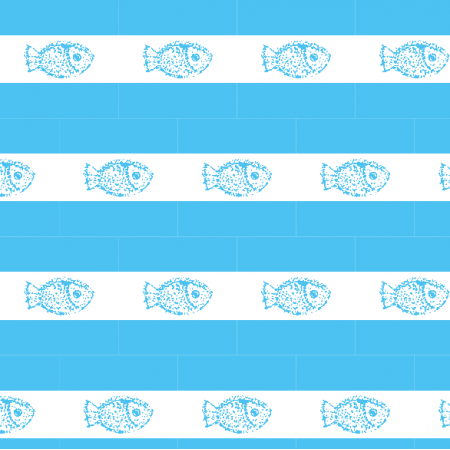 9938 | Fish- blue and white