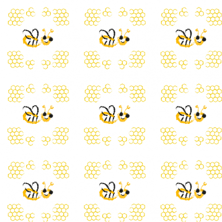 Fabric 9947 | Happy bee -2