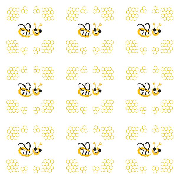 Tkanina 9947 | Happy bee -2